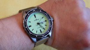 Dugena Herren-Armbanduhr Taucher Analog Quarz Kautschuk 4167791