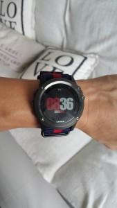 Fenix 3 Garmin with Nato watch strap in Matte Black Pre-V buckle