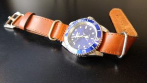Invicta Pro Diver 9094OB with StrapsCo G10 Zulu Vintage Military Style Leather Strap in Rust. Beautiful combination.