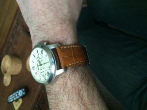 New tan watch strap looks great!
