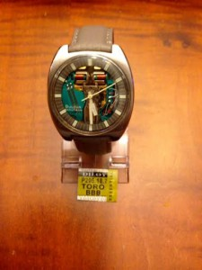 Grey Textured Leather Band on N3 (1973) Vintage Bulova Accutron Spaceview Watch