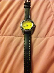 Momentum M1 on Stapsco black with yellow stitch leather