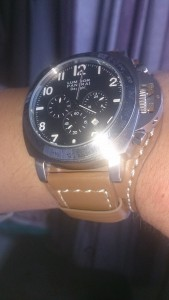 On wrist Panerai Luminor Daylight with Dassari Empire strap, magnifique !!
