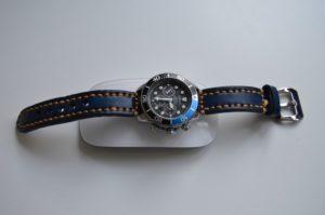 Seiko Solar Chrono Diver & Thick Vintage Blue/Orange
