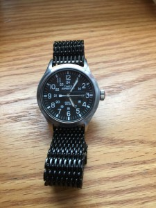 Matte Black Shark Mesh Watch Band. Changed the looks of my Timex completely.