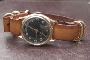 Moskwa 1958 USSR with StrapsCo Vintage Leather G10 Zulu