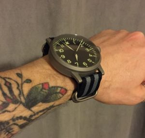 Bond Zulu strap is perfect with my 55mm Laco