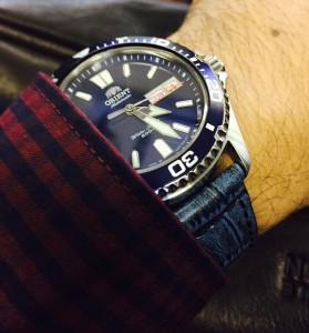 Orient Mako USA II Blue with DASSARI cartel blue strap