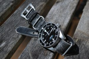 Obris Morgan Explorer II with Ultra Distressed Leather Nato