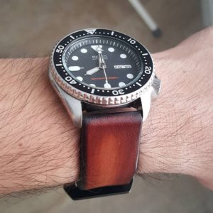 Seiko with Vintage StrapsCo Band