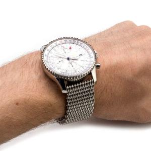 Breitling Navitimer World with Shark Mesh Watch Band