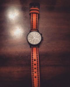 Tan w/ Black Stitching Vintage on Timex Metropolitan+