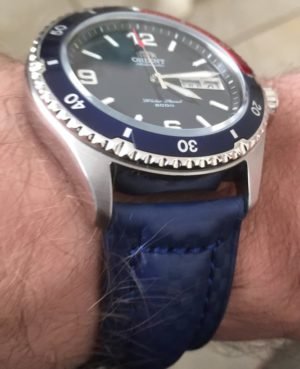 Orient Mako on Blue Carbon Fiber