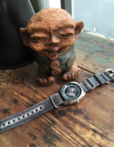 Strapsco leather strap and Seiko recraft with a new friend.