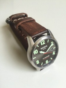 Antique vintage leather thick band