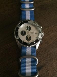 Summertime Citizen wearing Light Blue w/White Zulu 5-ring