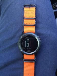 Fenix 3 Orange Zulu G10 Ballistic Nylon Nato Watch Band with Matte Black Rings size 26mm