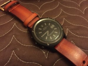 Garmin fenix 3 with leather band