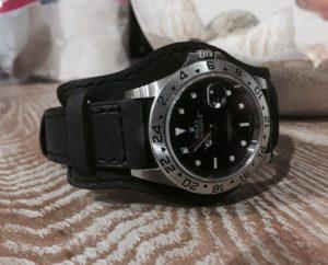Dassari bund strap on Rolex Explorer II