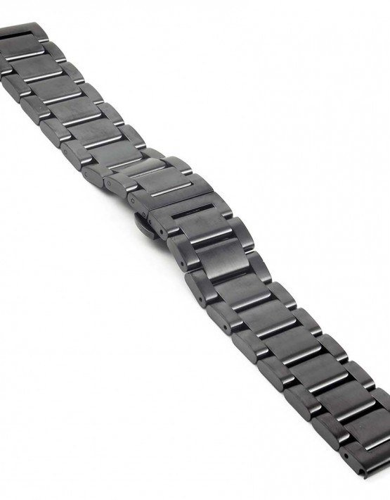 bm2.mb quick realese Matte Black Watch Strap with Quick Release Pins fits Seiko