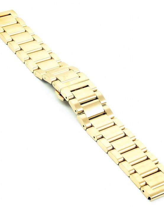 bm2.yg quick realese Yellow Gold Watch Strap with Quick Release Pins fits Seiko