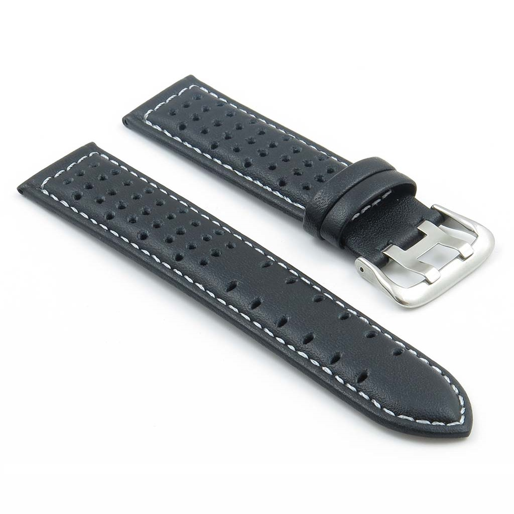 505af785a88 Perforated Leather Rally Watch Strap