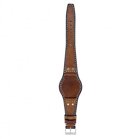 DASSARI Quest db3.11 Vintage Leather Bund Strap w Rivets in Green