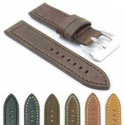 Gallery DASSARI Bentley p449 Leather Hand Stitched Strap