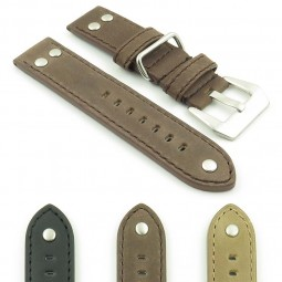 Gallery DASSARI Liberty P600 Leather Strap with Metal Keeper and Rivets