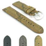 Gallery DASSARI Outlaw p442 Genuine Python Skin Watch Strap