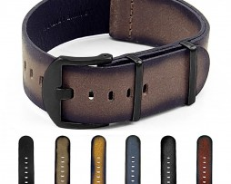 Gallery-DASSARI-Slater-dn9-Distressed-Leather-NATO-Strap-w-Matte-Black-Hardware