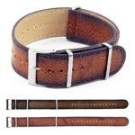 Gallery DASSARI Woodland dn7 Premium Vintage Italian Leather NATO Strap