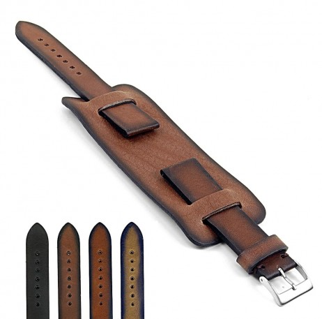 DASSARI Gauntlet dc1.2 Vintage Italian Leather Cuff Band in brown