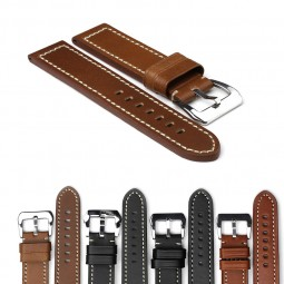 Gallery p371Thick Premium Leather Watch Strap