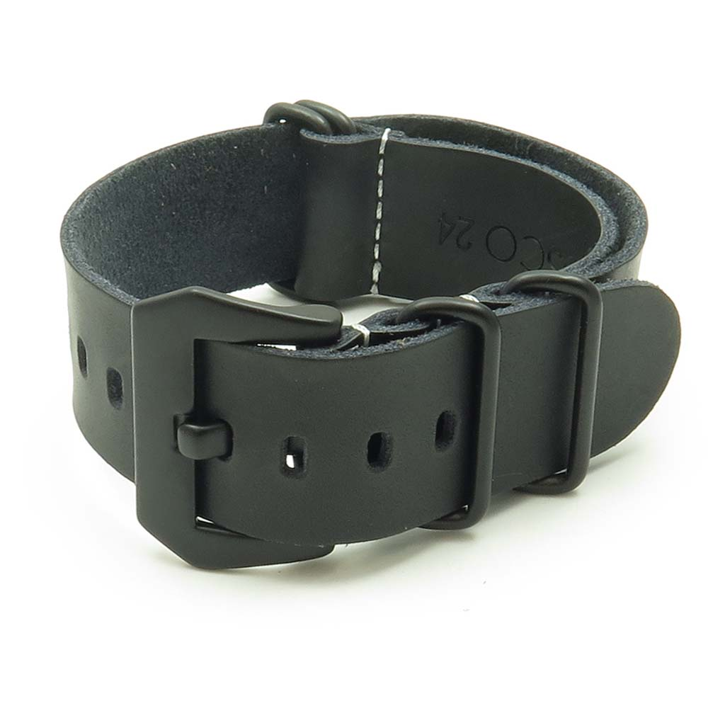 34dd5228975 Leather NATO Strap w  Black Pre-V Buckle