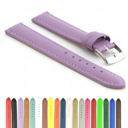 302.18 Padded Leather Watch Strap in Lilac