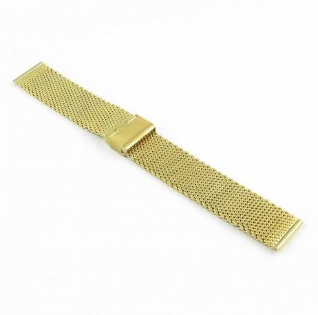 m2.yg Milanese Mesh Strap in Yellow Gold