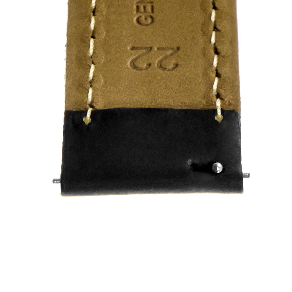 StrapsCo-Quick-Release-Vintage-Top-Grain-Leather-Watch-Band-w-Matte-Black-Buckle thumbnail 8