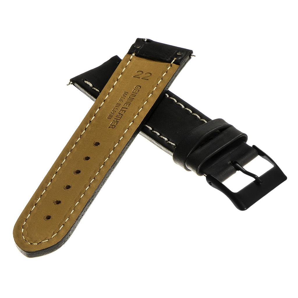StrapsCo-Quick-Release-Vintage-Top-Grain-Leather-Watch-Band-w-Matte-Black-Buckle thumbnail 7