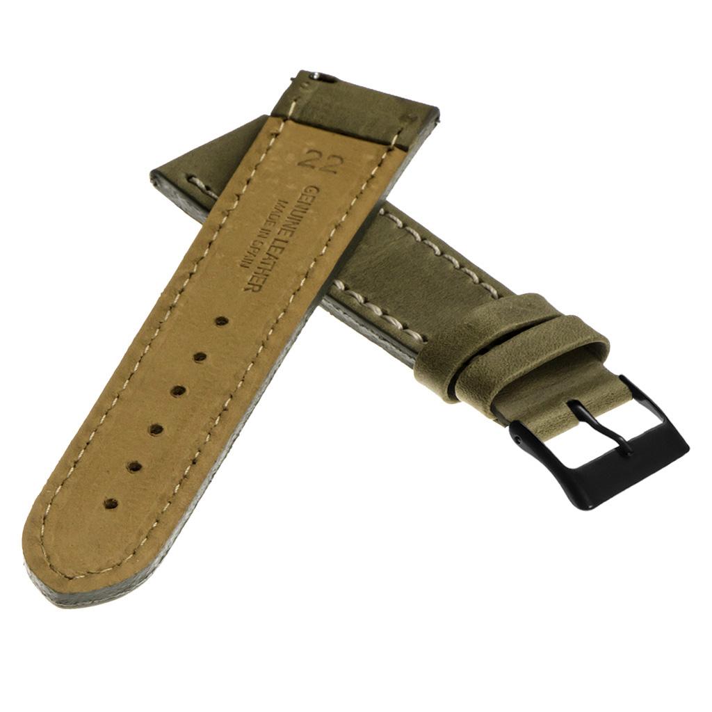 StrapsCo-Quick-Release-Vintage-Top-Grain-Leather-Watch-Band-w-Matte-Black-Buckle thumbnail 35