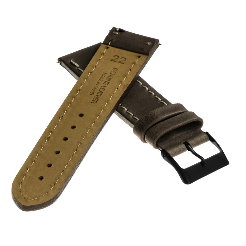 StrapsCo-Quick-Release-Vintage-Top-Grain-Leather-Watch-Band-w-Matte-Black-Buckle thumbnail 11