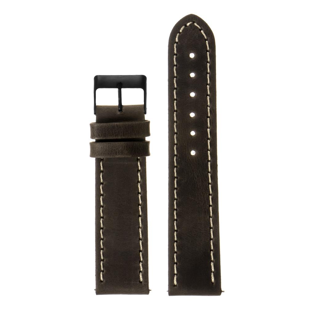 StrapsCo-Quick-Release-Vintage-Top-Grain-Leather-Watch-Band-w-Matte-Black-Buckle thumbnail 10