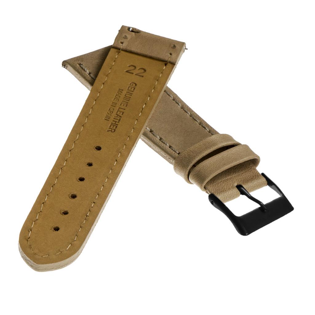 StrapsCo-Quick-Release-Vintage-Top-Grain-Leather-Watch-Band-w-Matte-Black-Buckle thumbnail 15