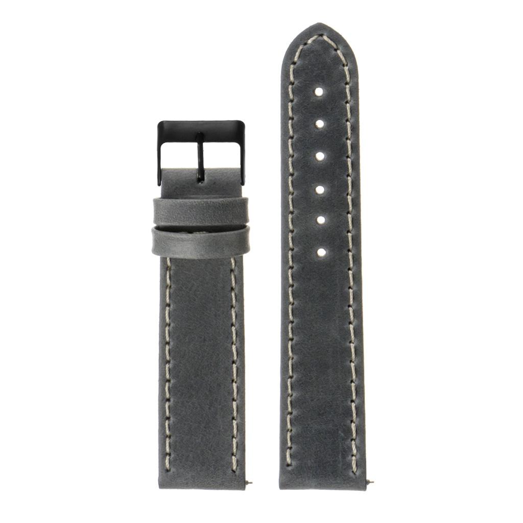 StrapsCo-Quick-Release-Vintage-Top-Grain-Leather-Watch-Band-w-Matte-Black-Buckle thumbnail 18