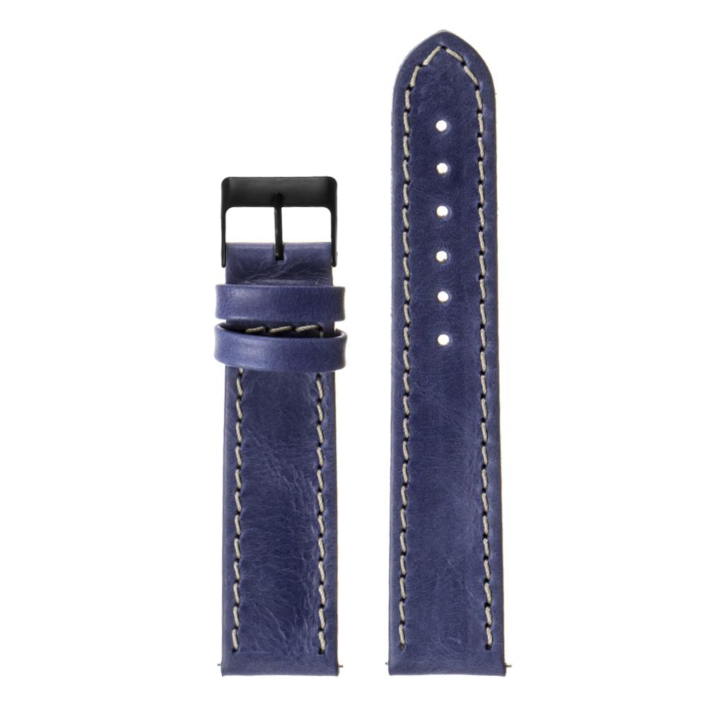 StrapsCo-Quick-Release-Vintage-Top-Grain-Leather-Watch-Band-w-Matte-Black-Buckle thumbnail 22