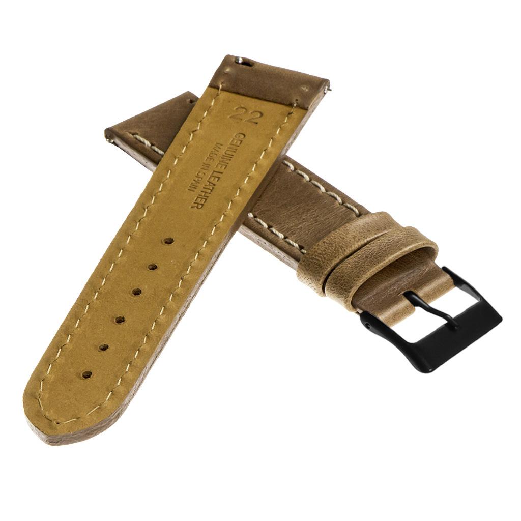 StrapsCo-Quick-Release-Vintage-Top-Grain-Leather-Watch-Band-w-Matte-Black-Buckle thumbnail 31