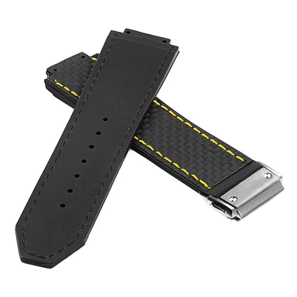 b61230642ec DASSARI S5 Carbon Fiber   Rubber Watch Strap Hublot Big Bang